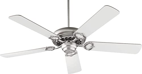 Quorum International 17525-65 Fan, Satin Nickel