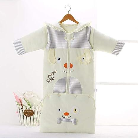 Saco de dormir para bebés de 0-6 años saco de dormir de algodón grueso para