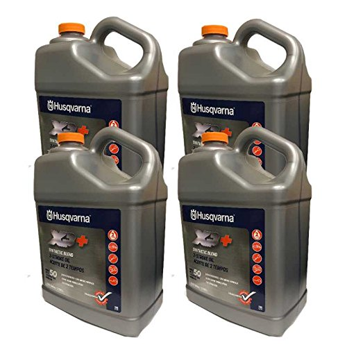 Husqvarna Case Of 4 OEM XP+ 2 Stroke Engine Oil 1 Gallon Bottle 593152305 by Husqvarna
