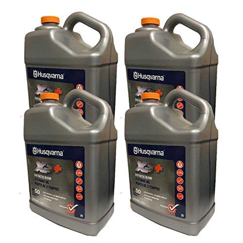 Husqvarna Case Of 4 OEM XP+ 2 Stroke Engine Oil 1 Gallon Bottle 593152305 by Husqvarna (Image #1)