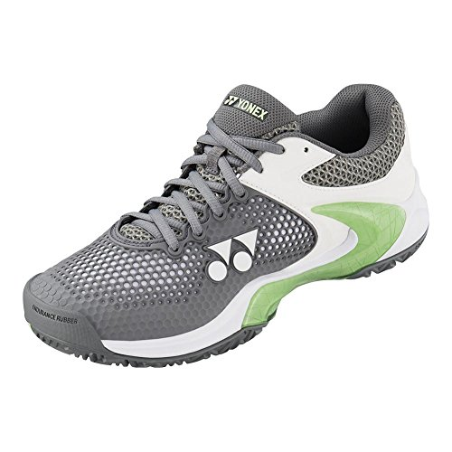 Yonex Power Cushion Eclipsion 2 Womens Tennis Shoe, Gray/Pale Green (10.5)