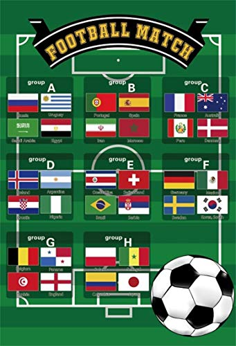Leyiyi 3x5ft Football Cup Backdrop Championship Matches Kids Birthday Little Man Party Famous Football Teams American Soccer Photo Background Baby Shower 1st B Day Portrait Shoot Vinyl Studio Prop ()