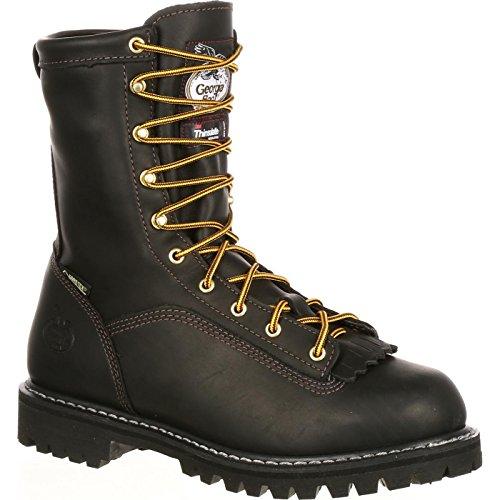 Georgia G8040 Mid Calf Boot, Black, 11.5 M US