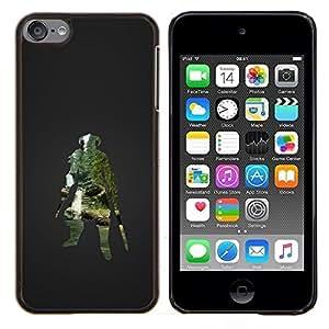 Qstar Arte & diseño plástico duro Fundas Cover Cubre Hard Case Cover para Apple iPod Touch 6 6th Touch6 (Dracónido Warrior - Juegos Skyrm)