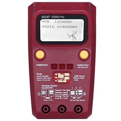Price comparison product image BSIDE ESR02 PRO Digital Transistor SMD Components Tester Diode Triode Capacitance Inductance Multimeter ESR Meter