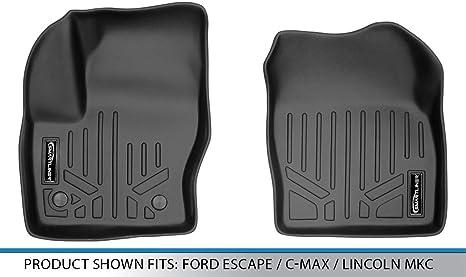 MAXLINER Floor Mats 2nd Row Liner Black for 2015-2018 Lincoln MKC