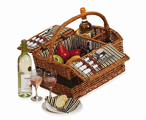 Largo Two Person Picnic Basket - Basket All Seasons Picnic