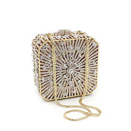 MOGOR, Poschette giorno donna oro Gold medium