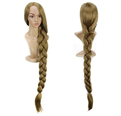 Las mujeres 48 pulgada (120 cm) de largo 60.96 Rapunzel peluca cosplay peluca fiesta