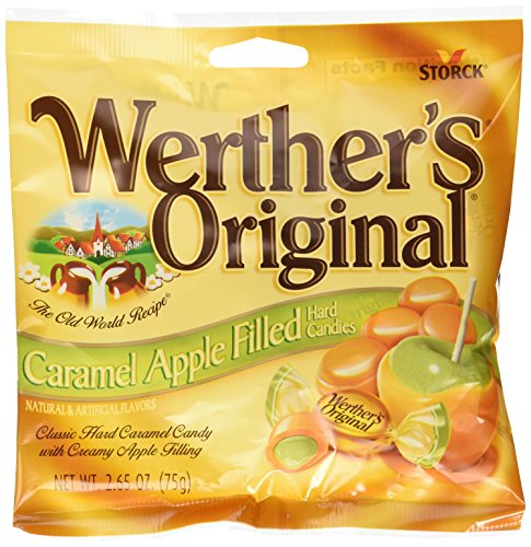 Smooth Caramel Apple - Werthers Original Caramel Apple Filled Hard Candies PACK of 3
