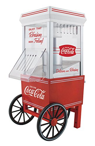 082677261502 - Nostalgia OFP501COKE Coca-Cola 12-Cup Hot Air Popcorn Maker carousel main 0