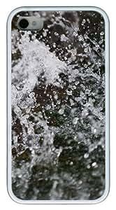 iPhone 4S Case,Melting Winter Snow TPU Custom iPhone 4/4S Case Cover Whtie