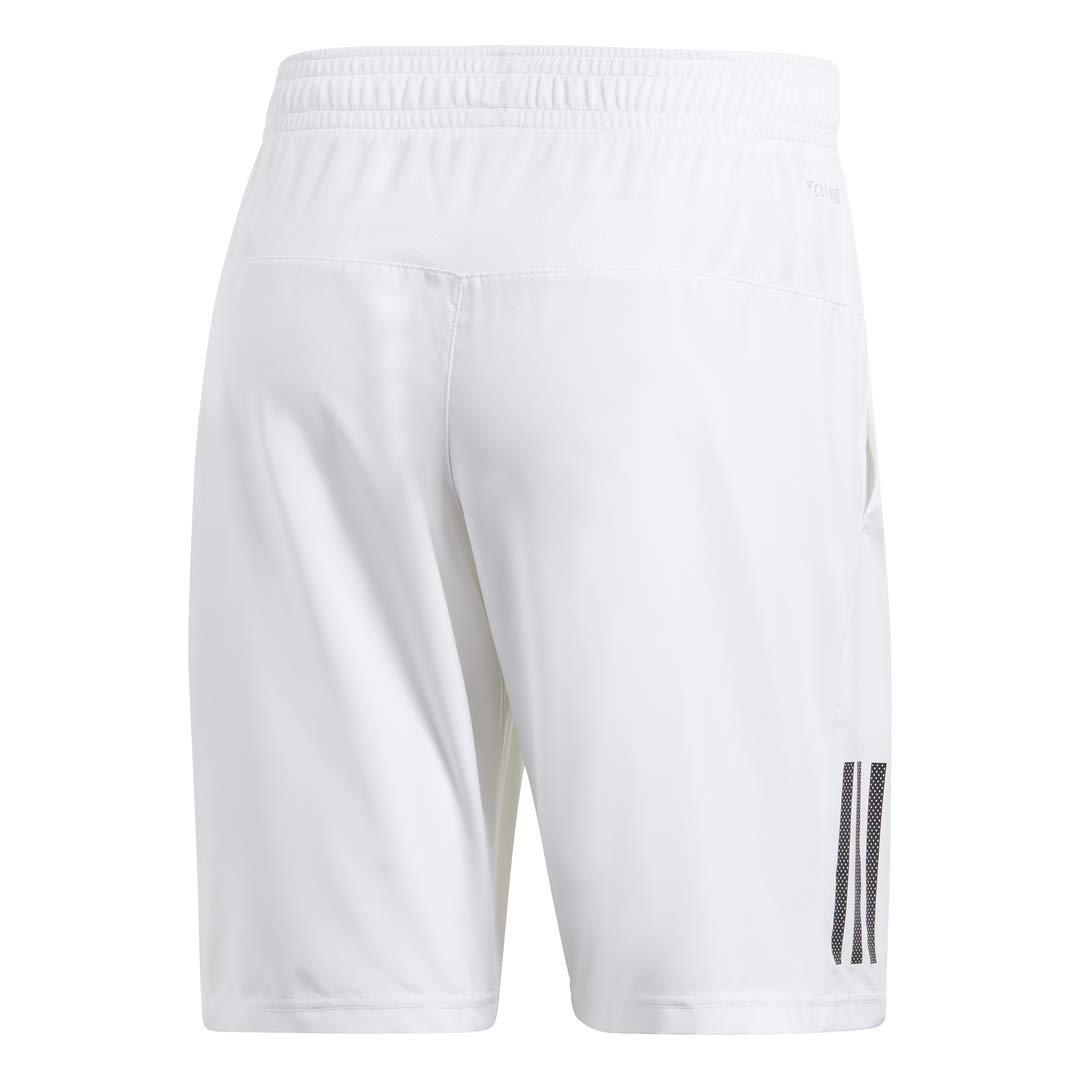 adidas Men's Club 3-Stripes 9-Inch Tennis Shorts, White/Black, XX-Large by adidas (Image #2)