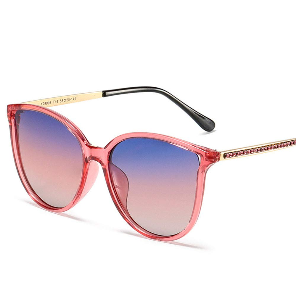 E Metal Cat Eye Sunglasses, Stylish Polarized Driving Sunglasses, Suitable for Most Outdoor Activities