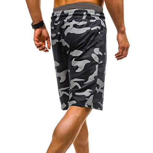 vermers Mens Summer Casual Cargo Shorts 2018 Camouflage Short Pants(XL, Black) by vermers (Image #4)