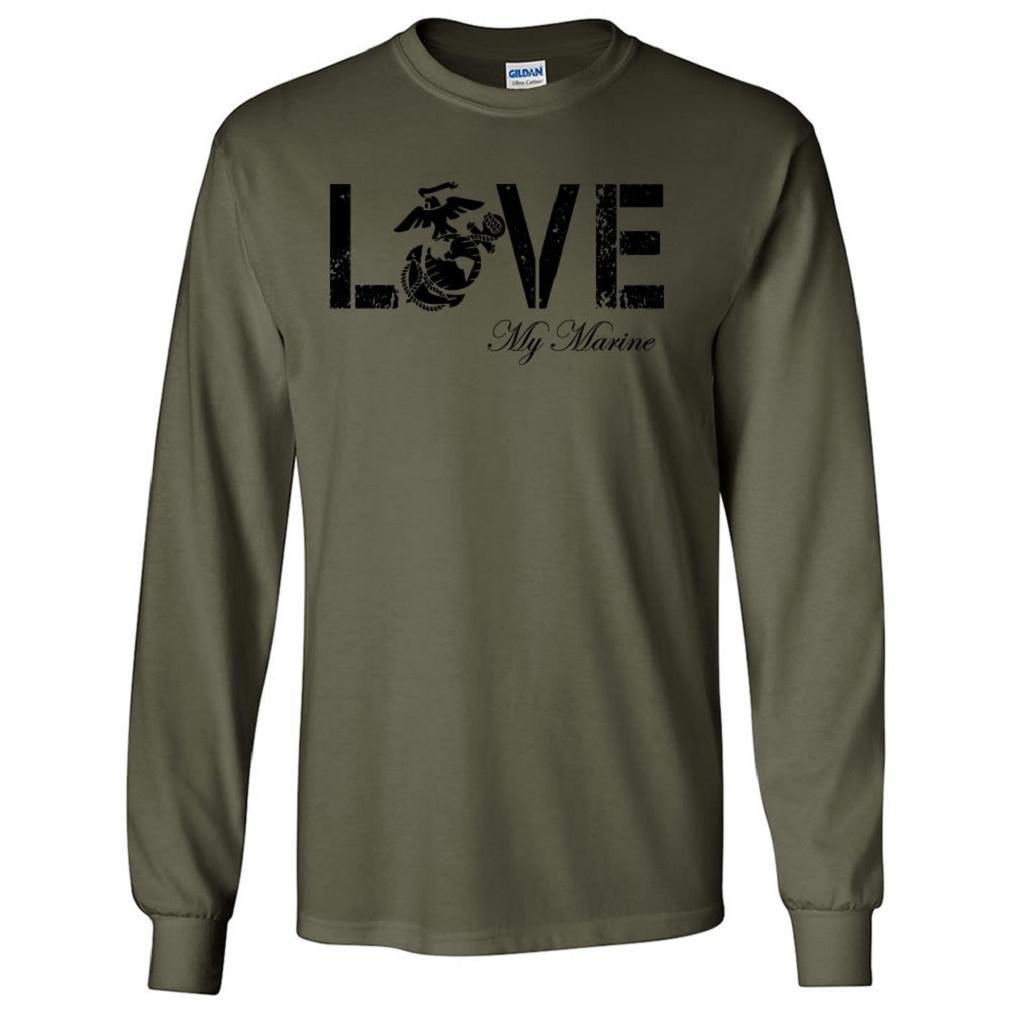 LOVE my Marine Long Sleeve Tee in Military Green - Large