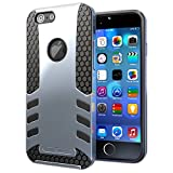Hyperion Titan 2-piece Premium Hybrid Protective Case / Cover for Apple iPhone 6 (4.7 inch) Model Cell Phone (Fits all carriers of Apple iPhone 6 (4.7 inch) US and International models and carriers) NOT compatible with 5.5 inch model. **2 Year NO HASSLE Warranty** - SILVER