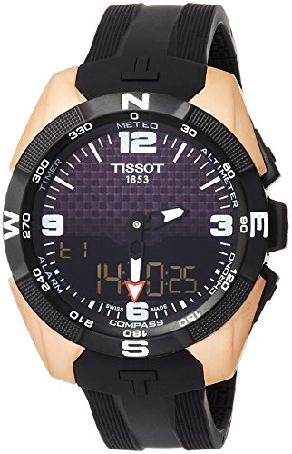 (Tissot T-Touch Black Dial Silicone Strap Men's Watch T0914204720700)