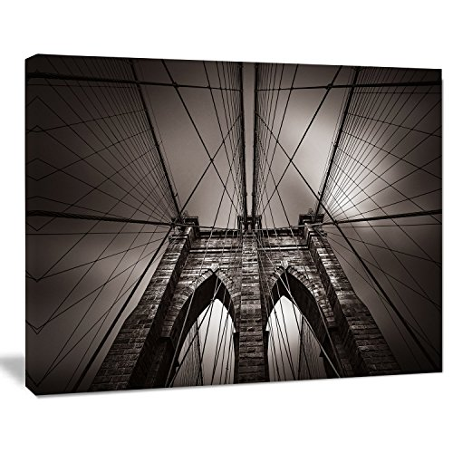 Design Art Brooklyn Bridge in NYC USA – Extra Large Cityscape Wall Art on Canvas