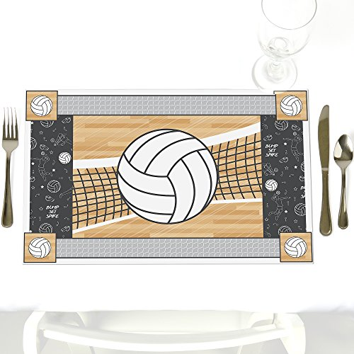 Bump, Set, Spike - Party Table Decorations - Volleyball Baby Shower or Birthday Party Placemats - Set of 12 ()
