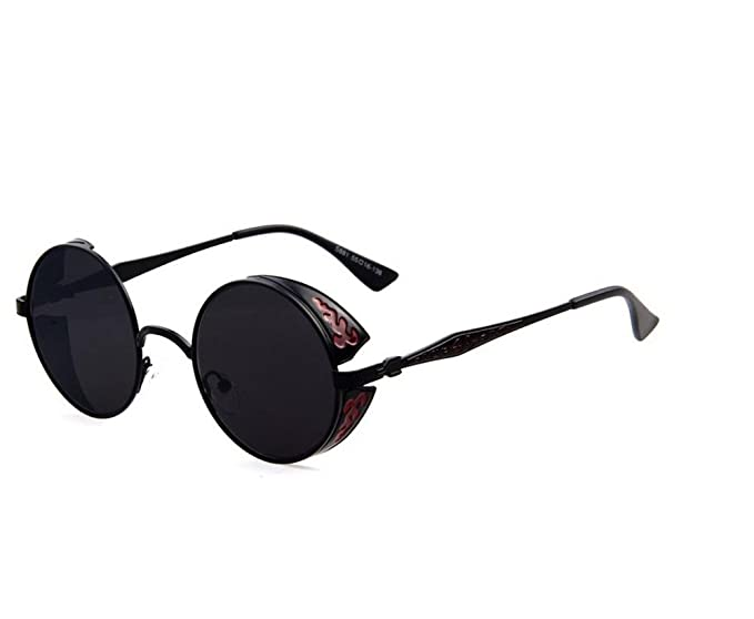 Amazon.com: Tou Che Lujo metal anteojos de sol retro ...