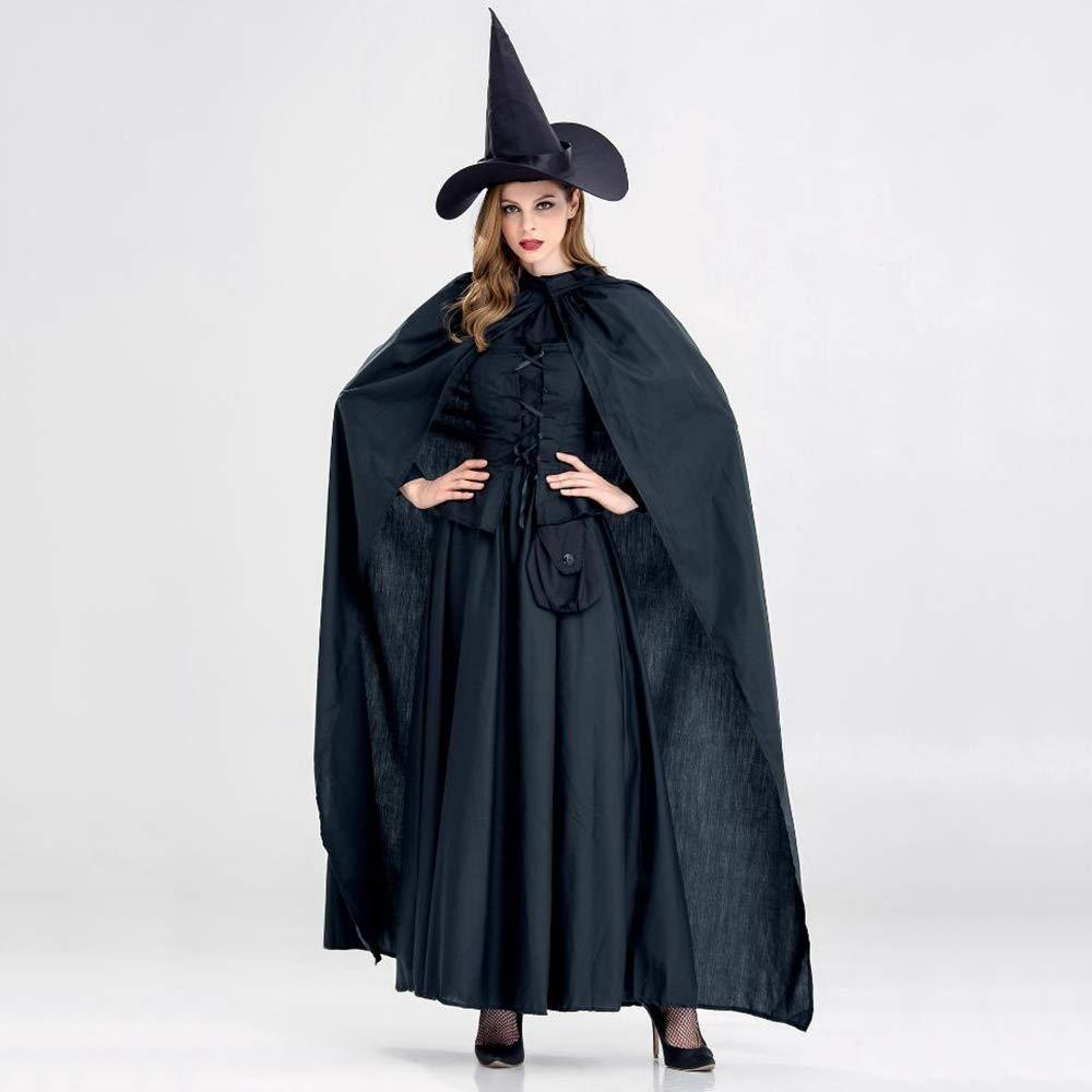 Ambiguity Halloween kostüm Damen Halloween Hexenkostüm Schwarze Horror Hexe Verjüngungskur Prom Theme Party Kostüm