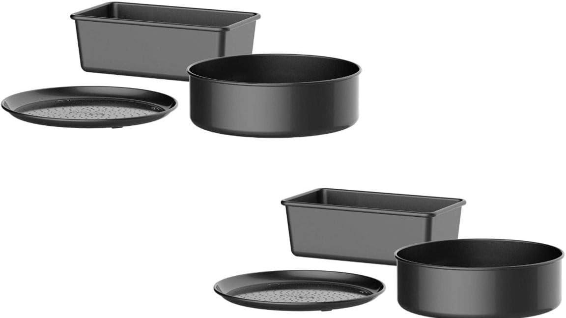 Ninja XSKBAKEW Deluxe Foodi Accessory Bake Kit 6.5 /& 8 qt Grey