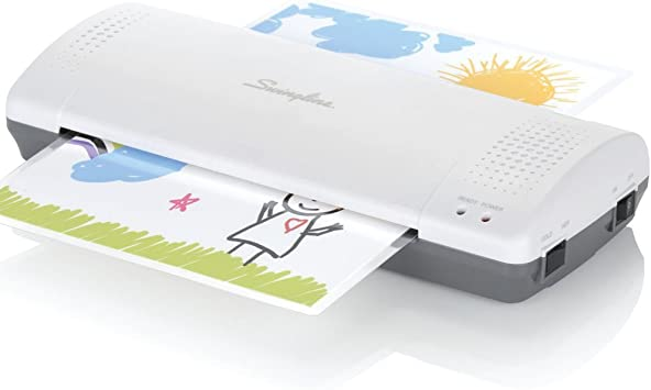 White//Gray Inspire Plus 1701857ECR Quick Warm-Up Includes Laminating Pouches Swingline Thermal Laminator + Thermal Laminating Pouch pack