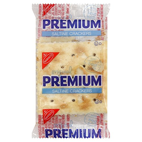 Premium Saltine Crackers, 0.2 Ounce (Pack of 500) ()