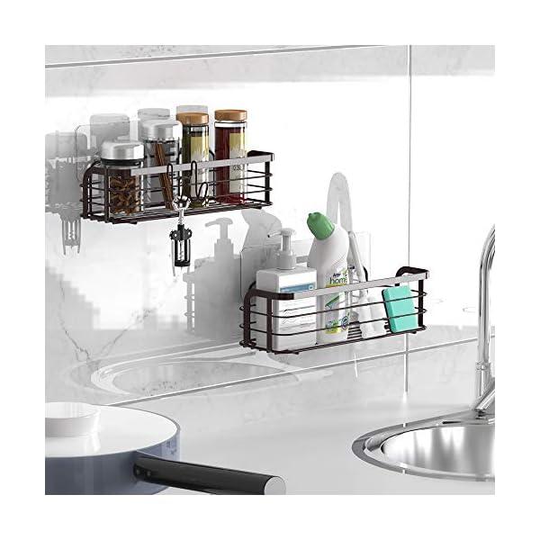 51UVNkaAkfL Avoalre Duschkorb ohne Bohren Duschablage Selbstklebend Duschkorb 2 Pack Badablage mit Saughaken, Bronze Dusche Ablage
