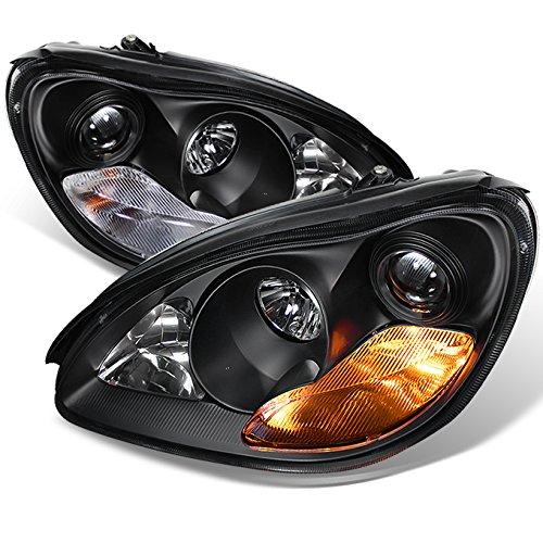 For 2003-2006 Mercedes Benz W220 S-Class Sedan Black Bezel Xenon HID Type Projector Headlights Lamps LH+RH Pair