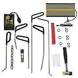 Paintless Dent Repair Tools Auto Body Repair Kits with PDR Rods LED Line Board Air Pump Wedge Body Hammer for Car Body Repair