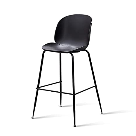 Stupendous Amazon Com Metal Bar Stools With Plastic Seat Modern Machost Co Dining Chair Design Ideas Machostcouk