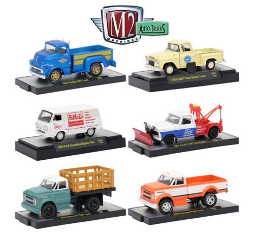 1:64 M2 MACHINES COLLECTION - Auto-Trucks Release 46 Assortment In Acrylic Cases Set Of 6pcs Diecast Model Car By M2 - Car C60