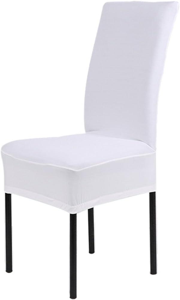 Chlove Housse de Chaise pr Salle a Manger Hotel Restaurent Couleur Blanc 1 Pc