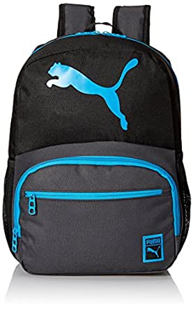 PUMA Boys' Little Backpacks and Lunch Boxes, Black/Blue, Youth
