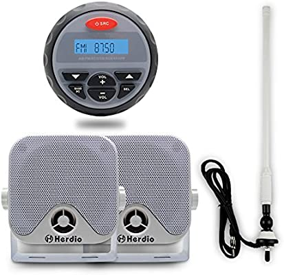 Marine Stereo and Speakers Waterproof mp3 Player Stereo System Boat Car FM Radio