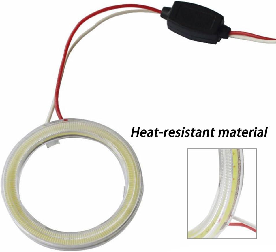 luce bianca 6500/K diametro 60 mm tensione DC12/V Taben Anello LED COB 45SMD luminoso 1 coppia Lampada per fari Angel Eyes