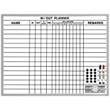Magna Visual In/Out Planner, 18'' x 24'', White, 24 x 18