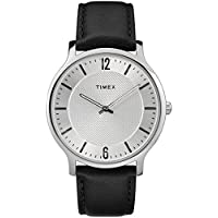 Timex Men's TW2R50000 Metropolitan 40mm Black/Silver-Tone Leather Strap Watch