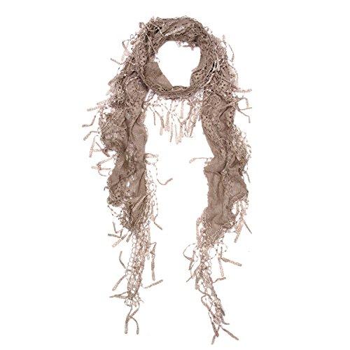 Elegant Sheer Fashion Fringe Scarf product image