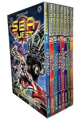 - Sea Quest Series 8 Books Set Collection (Mangler The Dark Menace, Crusher The Creeping Terror, Stinger The Sea Phantom, Shredder The Spider Droid, Kraya The Blood Shark, Manak The Silent Predator, Silda Electric Eel, Cephalox Cyber Squid)