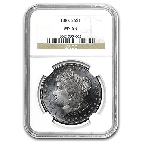 1882 S Morgan Dollar MS-63 NGC $1 MS-63 NGC