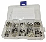 WINGONEER 200PCS 10Value (1N4001 1N4002 1N4003 1N4004 1N4005 1N4006 1N4007 1N5817 1N5818 1N5819) Diode Assorted Kit Set + Plastic Box