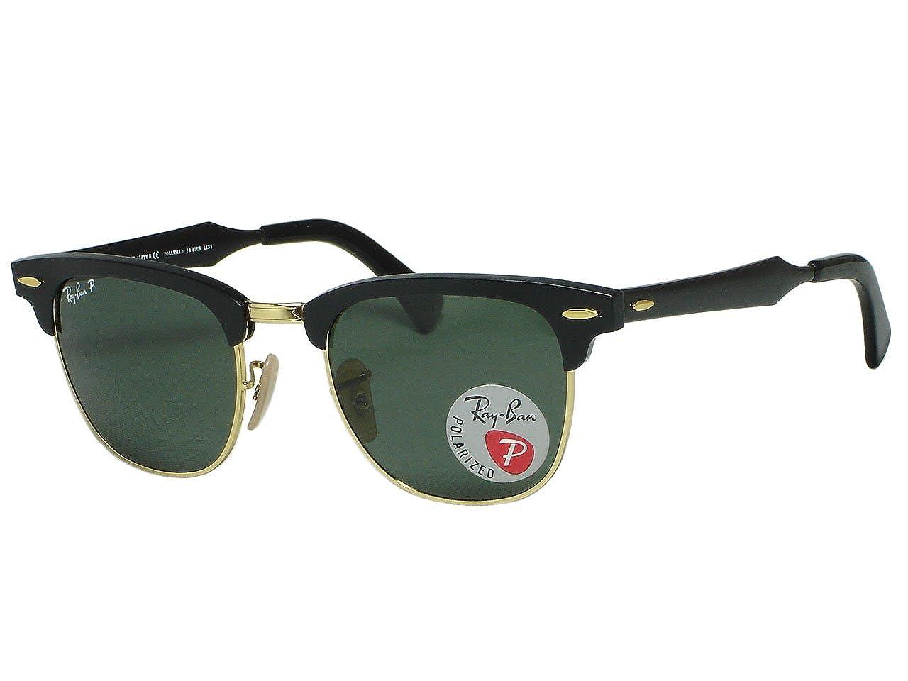 24d0d43c29 Amazon.com  Ray-Ban Clubmaster Aluminum 0RB3507 Sunglasses  Clothing