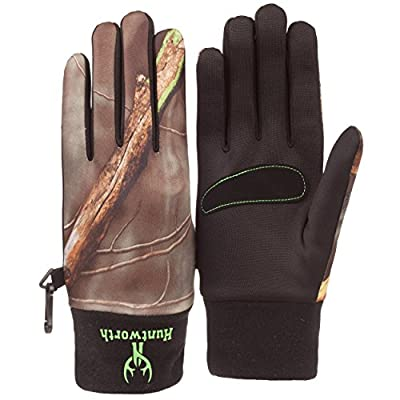 Huntworth Youth Oaktree Camo Performance Fleece Shooters Hunting Glove 108YOT