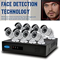 OWLTECH 8 Channel Face Detection 5MP NVR with preinstall 2TB HDD - 8 x 4MP 3.6mm IP Bullet Camera with Built in Microphone plus 100ft Cable and Accessories