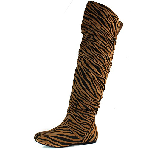 DailyShoes Over High Boots Hi 5 US the Sv Knee M Fashion B Tiger Thigh 6 ErUq1r