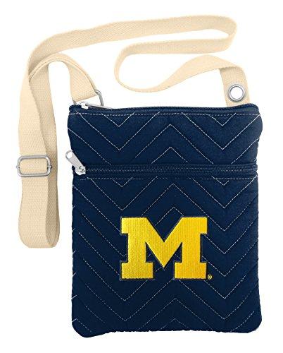 NCAA Michigan Wolverines chev-stitch Kreuz Körper 1I257b