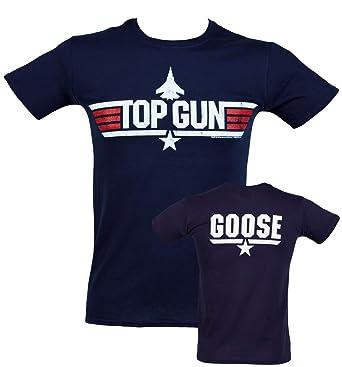 fe3722d7 Mens Top Gun Goose T Shirt Blue: Amazon.co.uk: Clothing